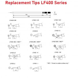 Replacement Soldering Tips – LF400 Series